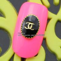 sh561 metalic studs nail art 50pcs free shipping wholesale glitter nail tips brand jewelry accessries plated silver ,black