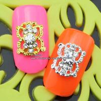 sh562 metalic studs nail art 50pcs free shipping wholesale glitter nail tips brand jewelry accessries plated silver ,black