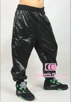 Hip Hop Cotton Loose Men Casual Pants / Fashion Elastic Waist  Full Length Men Trousers / Black M-3XL