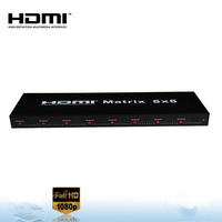 8 input  and  8 output 8x8 hdmi matrix  low cost factory supply