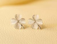 wholesale Gold plated Opal stone Cherrybloom earrings fashion Jewelry  2014111334