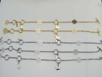 Wholesale Stainless Steel Anklets Fashion Jewelry 5pcs