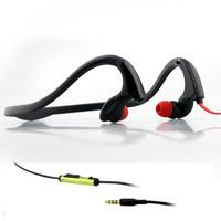 Free Shipping New Sport Ear In Earphone  Black Ear hook Headphone Stereo Quality for Sports Man Women with 3.5mm Jack
