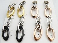 Wholesale Stainless Steel Fashion Costume Jewellery Stud Earrings 5 pairs