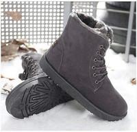 2014 Men Boots New Arrival Fashion Men Shoes Men Snow Boots Brand Design Men Ankle Autumn Boots Warmth Winter Flat Boots Brands.