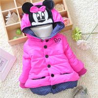winter kid warm jackets kids girls cartoon children girls baby classical style outwear coats 2014 KT544R