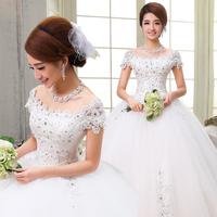 2015 Special Offer Ball Gown Wedding Dress Yan Fangfei Wedding Dress New Winter Slim Bride A Trailing Shoulder Korean Fashion Qi