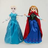 2Pcs/lot,Theme Music Frozen Toys Frozen Princess dolls Elsa&Anna Dolls Party Toys Brinquedos baby Kids Dolls for Girls&Boys