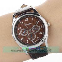 100pcs/lot WOMAGE-9595 Silver Case Leather Watch Wrap Quartz Casual Dress Watch Factory Price Wristwatch 4colors