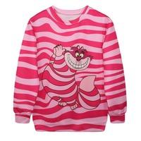 Sudaderas Unisex Sweatshirts Winter Pink Cute Civet Cats Printed Sweater Casual Hoodie Harajuku Fashion Style Pullover