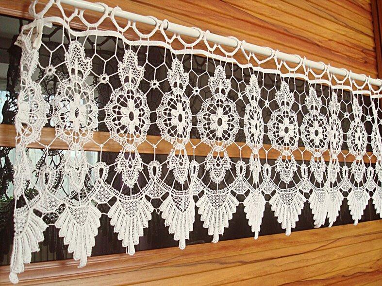 Vintage-Handmade-Crochet-window-valance-home-decoration-roman-curtain