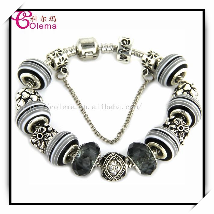 Handmade Charming Silver Murano Glass Beads Bracelet For Women Fits Pandora Style Bracelets Charms LET90