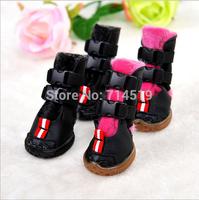 Pet Boots Dog Shoes Pet Product Dog Supplies Fleece Warm Snow Shoes Thick Cotton Boots 4pcs/set