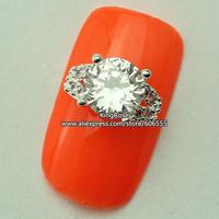 rh1406 wholesale 3D Crystal Rhinestones Alloy Glitters Tips Nail Decoration Nail Art Zircon 30PCS/LOT nail jewelry free shipping