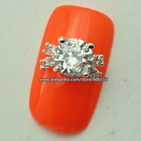 rh1409 wholesale 3D Crystal Rhinestones Alloy Glitters Tips Nail Decoration Nail Art Zircon 30PCS/LOT nail jewelry free shipping