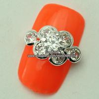 rh1408 wholesale 3D Crystal Rhinestones Alloy Glitters Tips Nail Decoration Nail Art Zircon 30PCS/LOT nail jewelry free shipping