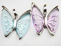 Wholesale Costome Jewelry Fashion Butterfly Pendant 2 Pcs