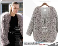 2015 New women coat casual jacket , women Lambs wool winter jacket coat ,Group of shoulder coat  free shipping