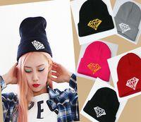 DIAMOND hip-hop wool Hat knitted autumn Sport Ski Skull wonem men caps New Arrival Fashion Xmas gifts 10pcs/lot