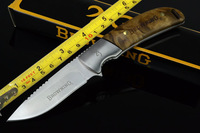 3pieces/dozen Free shipping Browning 338 5Cr13Mov 57HRC 4.8mm Full Tang Camping hunting knife knives Survival tool recuse FK200