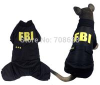 New Medium Large Dogs FBI Printing Warm Coat Big Dog Pet Winter Clothes Jumpsuit For Alaska Husky 2XL 3XL 4XL 5XL