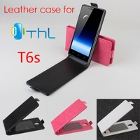 New Arrival Good Quality Flip Leather Case Cover For THL T6s Original Case Up and Down Cover +Free shipping