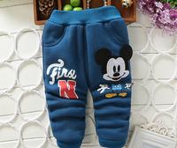 Retail 1 pcs High Quality New 2014 Winter Boys Pants Children Trousers Kids Warm Thick Pants Cartoon Baby Leggings Clothes TZ41