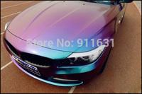 "23.6""x60"" Car Sticker Chameleon Color Smooth 3D Carbon Fiber Vinyl Film Wrap Car Sticker Purple to Blue Sticker with Air Free"