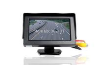 free shipping cheap mini car camera with 4.3 inch monitor