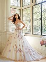 SW39 New Design Unique 2014 casamento Sexy Lace Applique Colorful Balll Gowns Wedding Dress Spaghetti Straps Vestidos de Noiva