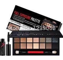 2014 New smash box full exposure palette eyeshadow kit With brush and mascara Makeup Set cosmetics