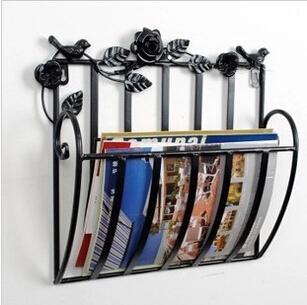 European Fashion Newspaper Magazine Iron Magazine rack newspaper rack free shipping(China (Mainland))