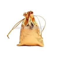 Free shipping wholesale and retail Metallic Drawstring Favor Bags  7x9cm