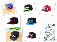 Free shipping new star of the same paragraph EXO Korean Fashionable hip-hop hat flat-brimmed hat