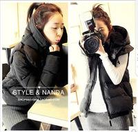 2014 winter fashion new Korean short paragraph Slim two wear women's high collar big yards thick cotton padded