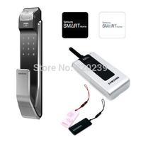 Samsung SHS-P718 Smart Security Push Pull Keyless fingerprint Digital lock Tag like P910 With Remote +2 Tag Card+2 RFID Card