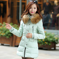 Clearance Na Ying with white duck down jacket winter 2014 new Korean Girls Nagymaros collar down jacket and long sections