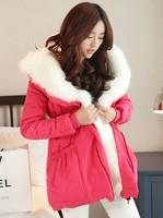 2014 winter coat Korean version of Slim thin female Nagymaros collar coat thicker coat jacket and long sections