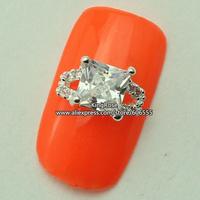 rh1407 wholesale 3D Crystal Rhinestones Alloy Glitters Tips Nail Decoration Nail Art Zircon 30PCS/LOT nail jewelry free shipping