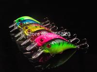New Arrival,7 color 8CM/11G Crankbait Wobbler plastic fishing lures,fishing hard bait,7pcs/lot,free shipping