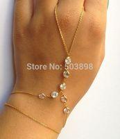 retail free ship style HA027 Fashion Jewelry  Women Metal rhinestone Hand Chain finger Bracelets Bangle Chains  Body chain
