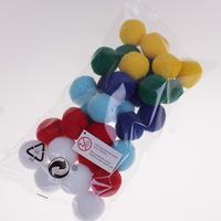 30 pieces Kindergarten Children's  DIY Handmade Materials  diameter 30mm Colorful Plush Ball