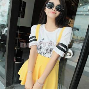 Лето свободного покроя мороженое юбка до середины бедра сплошной цвет женщины в базовые скобки юбки женщин