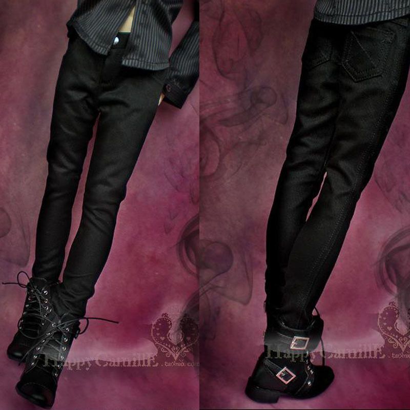 Bjd Clothes Upscale Texture Black Straight Pants Bjd Accessories for MSD 1/4 BJD 1/3 Uncle Bjd Doll(China (Mainland))
