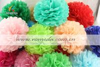 Mix Different Colors***50pcs  (8inch) 20cm Tissue Paper  Pom Poms Wedding Party Festival Decoration