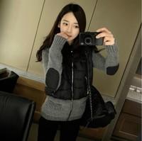 2014 Korea new winter padded jacket stitching fake two short paragraph Korean version of Slim jacket tide