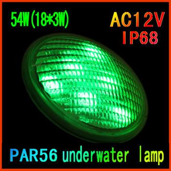 The new 2014 Single light color ip68 LED Swimming pool light 12V led underwater lights PAR56