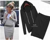 New arrival sport suit women fashion casual dress baseball sweatshirt pullovers hoodies sportswear clothing set