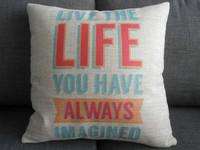 "New Cotton Linen Square Throw Pillow Case Cushion Cover  pillowcase Shell Life Imagine 18"""