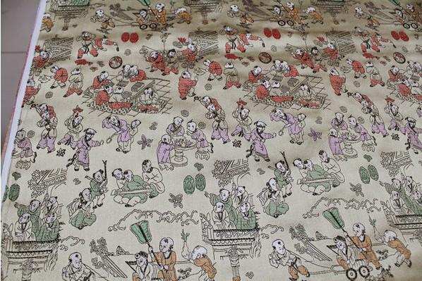 Ancient costume kimono dress Eva garment workers, qipao brocade silk fabrics fabric/ 3 color optional(China (Mainland))